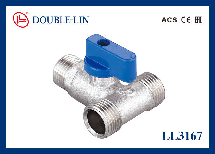 3 Way Male X Male X Male 25 Bar Tee Handle Ball Valve